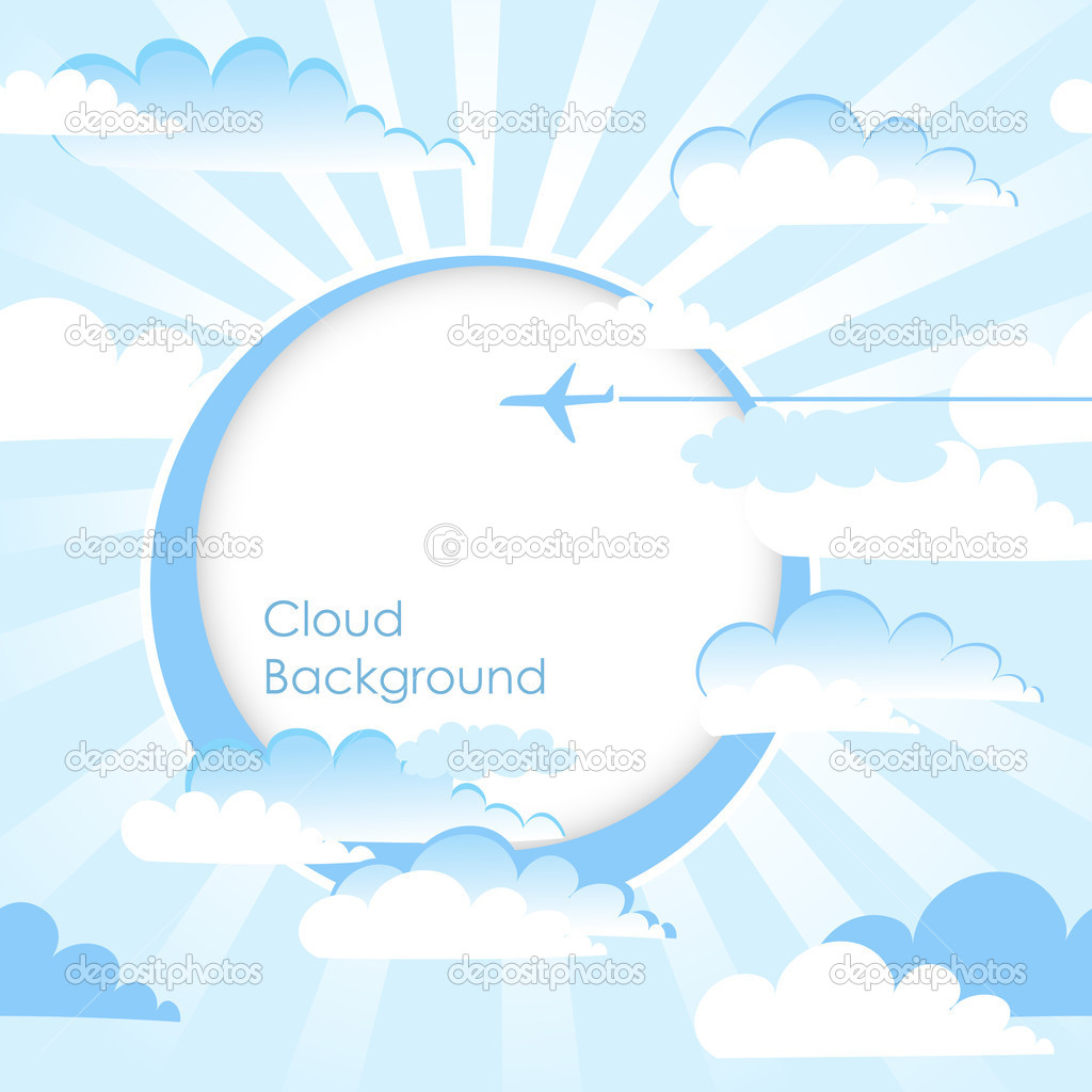 Clouds Background. Blue sky with clouds. Vector  Stock Vector #10377700