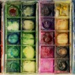 Old used paintbox - Foto de Stock