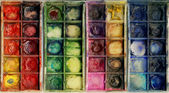 Old used paintbox — Stock Photo