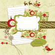 Cute Christmas scrapbook elements — Stock Photo