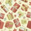 Christmas gifts in retro style. Creative packaging - Foto Stock