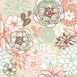 Retro floral seamless background. Romantic seamless pattern in vector — Stock Photo