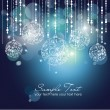 Blue Christmas Background with Christmas ornaments — Stockfoto