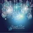 Blue Christmas Background with Christmas ornaments — Stock Photo