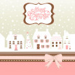 Christmas card, cute little town in winter — Stock Photo #8068128