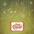 Photo: Abstract Christmas Background, christmas decorations, snowflakes and a fram