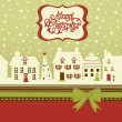 Christmas card, cute little town in winter — Stock Photo