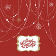 Photo: Christmas Background, christmas decorations, snowflakes and a frame
