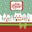 Christmas card, cute little town in winter — Stock Photo #8068162