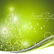 Beautiful Christmas tree on Green background — Stock Photo