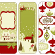 Royalty-Free Stock Photo: Cute Vertical Christmas banners in retro style