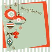 Retro Christmas Ornaments — Stock Photo
