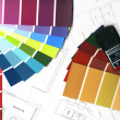 Stock Photo: Color swatches and plans