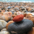 Colorful stack of rocks - Stock Photo