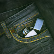 Lighter in a pocket — Stock Photo