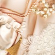 Stock Photo: Textile wedding background