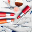Makeup brush and cosmetics - Lizenzfreies Foto