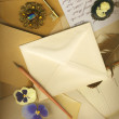 Romance of writing letters — Stock Photo