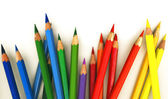 :Assortment of coloured pencils — Stock Photo