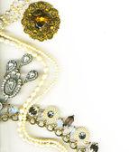 Jewellery border — Stock Photo