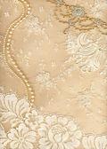 Textilní pozadí svatební — Stock fotografie