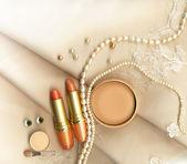 Textile wedding background — Stock Photo