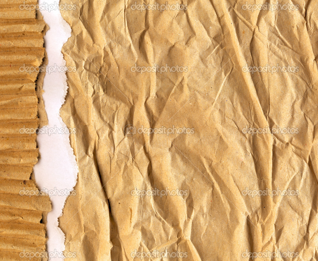 Ripped recycled cardboard background texture — Stock Photo #8097079