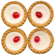 4 Bakewell Tarts — Stock Photo