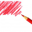 Pen with scribbles on white background - Stock Photo