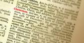 Il significato della parola natale evidenziati nel dizionario. fo superficiale — Foto Stock