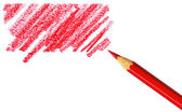 Pen with scribbles on white background — Stock Photo