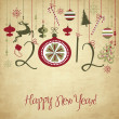 2012 Happy New Year background. - Stock Photo