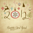 2012 Happy New Year background. — Stock Photo #9411029