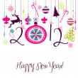 2012 Happy New Year background. — Stock Photo