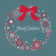 Christmas wreath made from snowflakes — Stock Photo #9411085