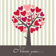 Valentine Love Tree — ストック写真