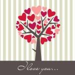Valentine Love Tree — Stock Photo