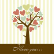 Abstract heart tree - Stock Photo