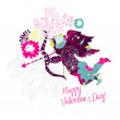 Happy Valentine's Day card. - Foto Stock