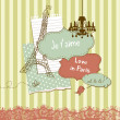Cute scrapbook elements in French style — Stock Photo
