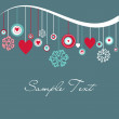 Royalty-Free Stock Photo: Cute background with hearts and snowflakes