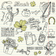Saint Patrick&#039;s Day doodles - Stock Photo