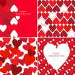 Vector set of Valentines seamless pattern — Stock Photo