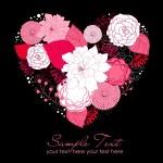 florais coração — Foto Stock