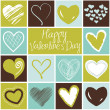 Valentine heart greeting card. - Stock Photo