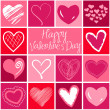 Valentine heart greeting card. — Foto de Stock
