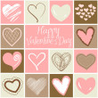 Stockfoto: Valentine heart greeting card.