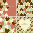 Vector set of Valentines seamless pattern — Stock Photo #9411825