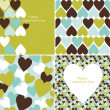 Foto Stock: Vector set of Valentines seamless pattern