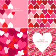 Vector set of Valentines seamless pattern - Stock Photo
